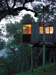 Post Ranch Inn : each room is an awesome individual tree house= with a glass roof that you can see the stars...  super uber chic.. and umber fancy for rich granola nature hippys!