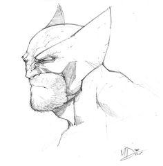 Wolverine Head Sketch by Max-Dunbar on @DeviantArt