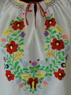 """#Embroidered #blouse with dropped shoulder, elastic waist, crocheted neck and sleeve, small """"matyó"""" rosy, purple silk embroidery, XXL - See more at: http://www.itshungarian.com/hungarian-gifts-products-store/blouses/embroidered-blouse-dropped-shoulder-elastic-waist-crocheted-neck-sleeve-small-matyo-rosy-purple-silk-embroidery-xxl-4/#sthash.EerWP4iC.dpuf"""