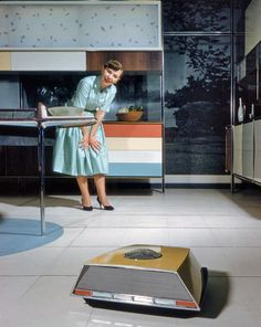 The year was 1959, when Cadillacs sported gigantic whale tails, midcentury decor was in full swing, harvest gold was a popular appliance color, and Whirlpool's Miracle Kitchen of the Future hinted of a robotic future we're now living today. Video of the little cleaner below...
