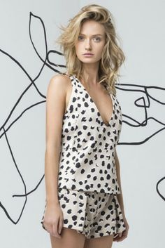 Swing Away Top in Spot Print by Cameo Collective