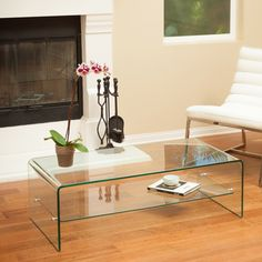 Christopher Knight Home Ramona Glass Coffee Table with Shelf - Overstock™ Shopping - Great Deals on Christopher Knight Home Coffee, Sofa & End Tables