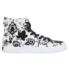 Lk Women Embellished Canvas High Top Sneakers (2.919.985 VND) ❤ liked on Polyvore featuring shoes, sneakers, beaded shoes, velcro sneakers, canvas sneakers, rubber sole shoes and embellished sneakers