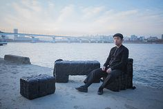 south korean design studio craft combine has recycled plastic containers to create a floating furniture series for use during flood-related emergencies. Korean Design, Material Design, Design Art, Crafts, Furniture, Objects, Swim, Future, Weather