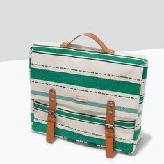 STRIPE PRINT FABRIC BACKPACK-Handbags-Girl-SHOES & BAGS | ZARA Hungary