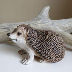 Hedgehog Sitting Figurine Resin Statue Ornament New Animal 5 in.