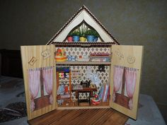 Sewing Roombox with scale 1:12 tailoring by BacettieCoccole on Etsy