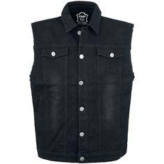 black denim waistcoat