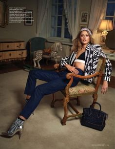 Frida Gustavsson Dons Denim Style for the January/February Issue of Vogue Netherlands by herminia