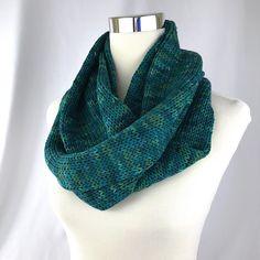 Cowl // neckwarmer // Merino wool // blue-green // green // blue // men // handknit // double cowl // neckwarmer // thick cowl by OrangeSmoothieKnits on Etsy