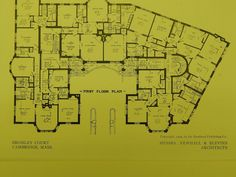 Floor Plans, Bromley Court, Cambridge, MA, 1909, Original Plan. Newhall & Blevins.