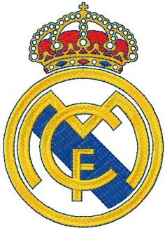 Real Madrid logo machine embroidery design