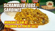 Scrambled Egg Sardines Ingredients: 1 small can sardines in tomato sauce 2 pcs raw eggs 1 pc red onion, minced 2 cloves garlic, minced tsp black pepper s. Cooking Oil, Scrambled Eggs, Tomato Sauce, Fish Recipes, Breakfast Recipes, Cooking Recipes, Foods, Filipino, Projects