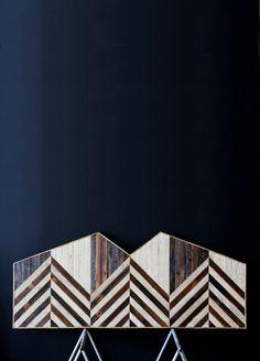 Woodworker Ariele Alasko, of Brooklyn, handmakes these gorgeous headboards.