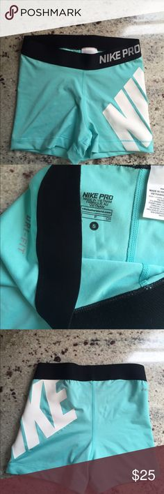 Nike pro shorts Preowned, great condition. No pilling or snags that I see. Just too small for me now! Accepting any offers! Nike Shorts Skorts