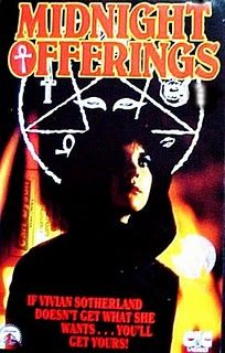 Midnight Offerings (1981): Vivian has magic powers. She doesn't hesitate to save her boyfriend David from failing in school by murdering teachers. However, David has gotten tired of her and is putting his charm on a new girl in school, Robin. Robin discovers that she also has magic powers, and it comes to a mental showdown between the two women over David.