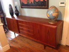 Toronto: mid century teak buffet / credenza - THE WOW FACTOR $1100 - http://furnishlyst.com/listings/948175