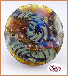 GJCG Twisted Ribbon-1420AF | ClassyArtGlass - Jewelry on ArtFire