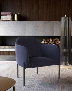 Modloft Tiemann Lounge Chair 5465W Official Store Modern Furniture Online, New Furniture, Contemporary Furniture, Living Room Furniture, Living Room Arrangements, Blue Fabric, Woven Fabric, Barrel Chair, Chairs For Sale