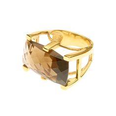 Smokey Quartz Serpens Gold Ring | Pushmataaha | Annielka.com