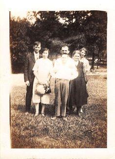 Photograph Snapshot Vintage Black and White Family Smile Dress Yard 1930'S | eBay