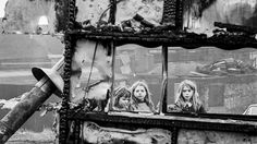 Jane Bown, Gypsy Children, Burned-Out Tram, London,early '60s