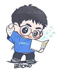 Kpop Exo, Exo Kokobop, Baekhyun, Exo Cartoon, Exo Stickers, Exo Anime, Exo Fan Art, Cutest Thing Ever, Exo Members