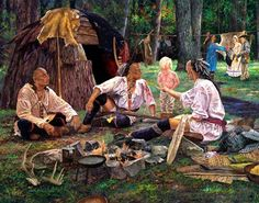A Simple Gift by Jack Paluh kp Native American Paintings, Native American Pictures, Indian Paintings, Native American Art, Woodland Indians, Woodland Art, Native American Mythology, Colonial Art, Hunting Art