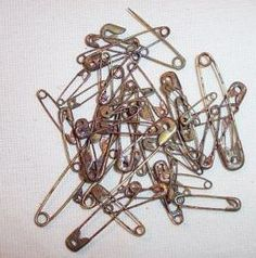 How To Rust Craft Store Purchased Metals Like Jingle Bells and Safety Pins...in a quart jar, add 1/2 cup bleach, 1/2 cup apple cider vinegar, and 1 tsp. salt.  Add your pins, bells, or whatever you are trying to rust.  Cover with lid loosely, and leave jar in a safe place for a couple of days.  Take the pins out with a fork or something, and spread out on a baking sheet or tin foil lined with a few layers of paper towels.  Will begin to rust as they dry; move around so all sides will…