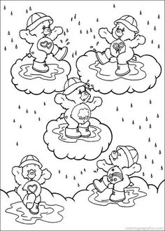 136 Best Care Bear Images On Pinterest Care Bears Coloring Books