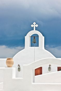 Church in Pyrgos, Santorini Greece