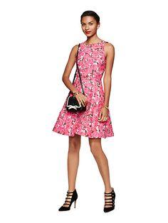 rose brocade open back dress - kate spade new york