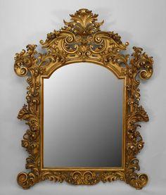 Italian Rococo mirror wall mirror gilt wood