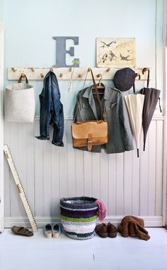 ah, if only i needed a mudroom. Hallway Inspiration, Design Inspiration, Lovely Shop, Office Storage, Mudroom, Wardrobe Rack, Building A House, Sweet Home, Wall Decor
