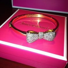 Juicy Couture bracelet totally amazing and full of glamour I love it Juicy Couture Bracelet, Juicy Couture Jewelry, Couture Bags, Pink Love, Diamond Are A Girls Best Friend, Cute Jewelry, Women's Accessories, Jewelery, Fashion Jewelry