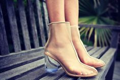 Maison Martin Margiela : Leather-Trim Mesh Ankle Boots | Sumally