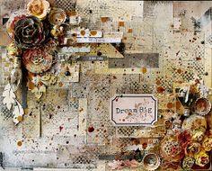 Riikka Kovasin - Paperiliitin: Dream Big - 7 Dots Studio and Tattered Angels Paints #mixedmedia #tatteredangels #mistpaint