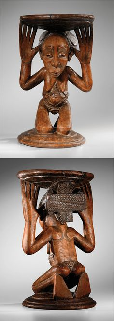 Africa | Headrest from the Luba people of DR Congo | Wood | ca. mid to late 1800s | Attributed to the Master of Buli