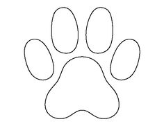 Cat paw print pattern. Use the printable outline for crafts, creating stencils, scrapbooking, and more. Free PDF template to download and print at http://patternuniverse.com/download/cat-paw-print-pattern/
