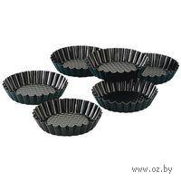 Набор форм для выпекания металлических с антипригарным покрытием, 6 шт. по 10*2 см