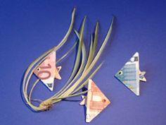 Geldscheine falten - Fische - deutsche Bildanleitung