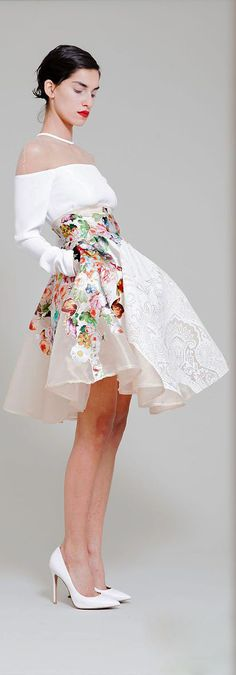 Hussein Bazaza - Ready-to-Wear - Spring-summer 2014 floral cocktail dress