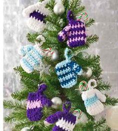DIY Ornaments   Crochet Ornament   Mini-Mittens   Crocheting Crafts — Country Woman Magazine