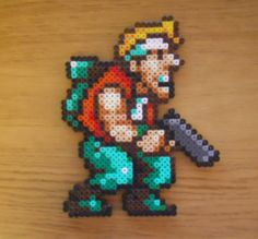 Marco Rossi Hama Bead Sprite Metal Slug by MartysSpriteShop, Perler Beads, Perler Bead Art, Fuse Beads, Bead Crafts, Diy And Crafts, Perler Bead Disney, Pixel Drawing, Art Perle, Minecraft Pixel Art