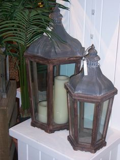 My lantern that will be incorporated into basement decor ... perhaps a hearth piece?