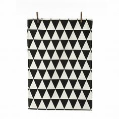 Adore this black and white geometric tea towel from Ferm Living at Burke Decor. Great for recipe/food styling, also great as a background.