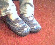 Sue's Free Patterns: Men's Padded Sole Slippers
