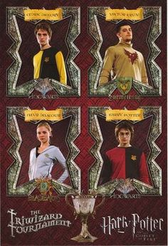 A great Harry Potter and the Goblet of Fire movie poster of the contestants in the Hogwart's Triwizard Tournament! An original published in 2005. Fully licensed
