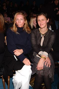 Vogue's Tonne Goodman and Sally Singer at Saint Laurent | Fall 2005
