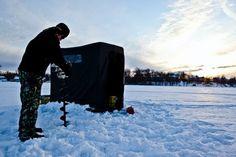 Ice fishing in Pure Michigan